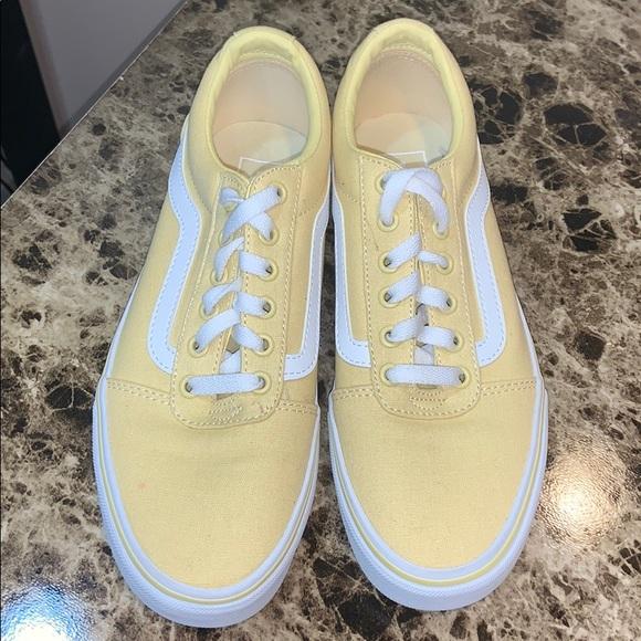 Vans Shoes   Womens Light Yellow   Poshmark